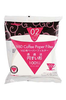 HARIO 100 pack of V60 Coffee Filter Papers for 02 Dripper