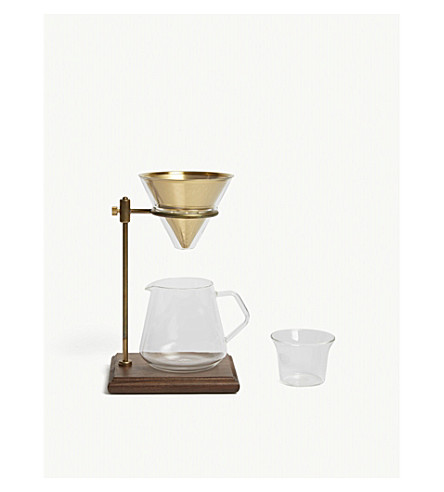 KINTO Slow Coffee Style 02 brewer stand set 4 cups