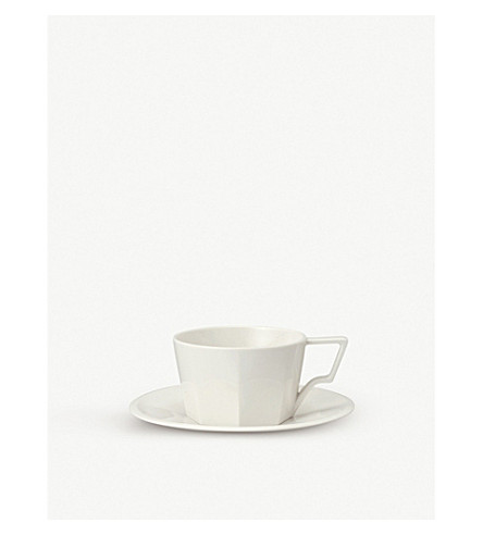 KINTO OCT porcelain cup and saucer