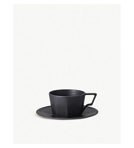 KINTO Oct porcelain cup and saucer set