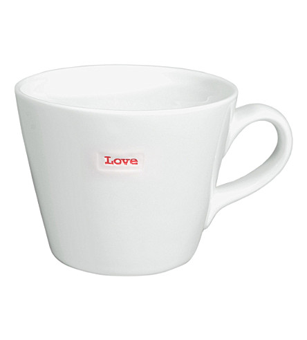 KEITH BRYMER JONES Love porcelain bucket mug