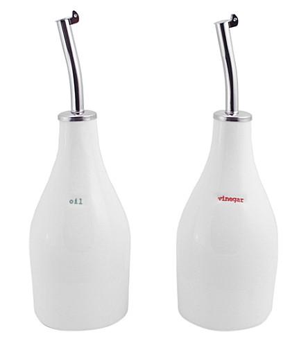KEITH BRYMER JONES Oil & Vinegar porcelain bottle set