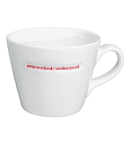 KEITH BRYMER JONES Overworked/Underpaid porcelain mug