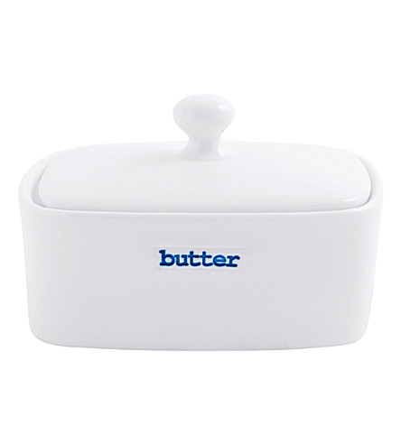 KEITH BRYMER JONES Printed porcelain butter dish
