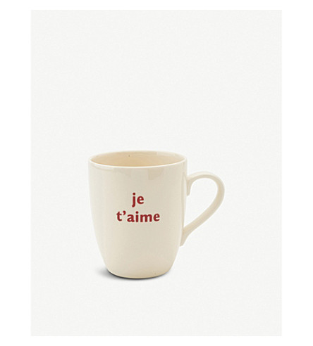 THE BIG TOMATO COMPANY Je t'aime mug