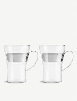 BODUM Pair of 2 Assam coffee glasses