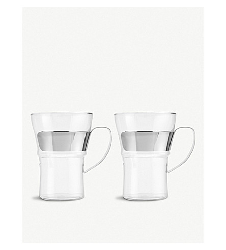 BODUM Pair of 2 Assam coffee glasses