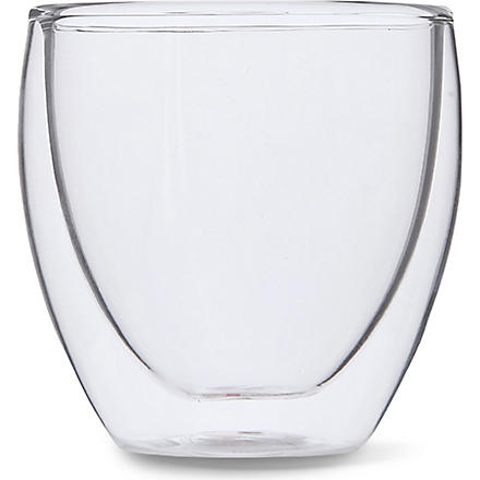 BODUM Pavina double wall glass 80ml