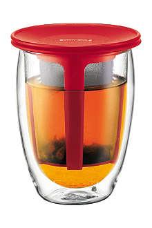 BODUM Tea for One double wall mug and infuser 350ml