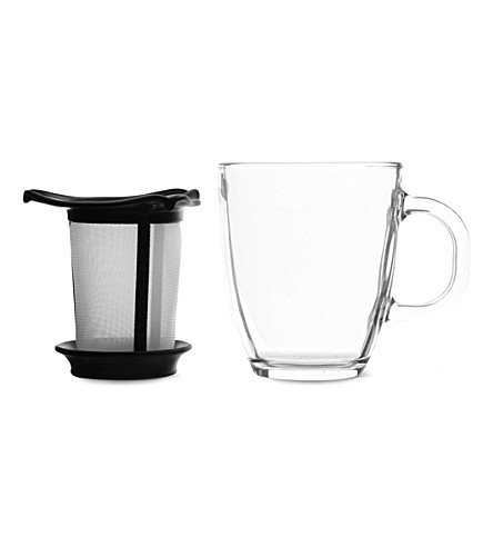 BODUM YO-YO tea mug and infuser (Black