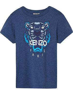 KENZO Tiger print short sleeved t-shirt 4-16 years