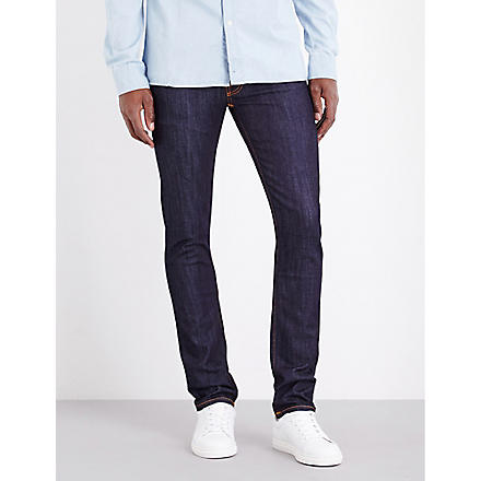 NUDIE JEANS Thin Finn slim-fit tapered jeans (Indigo