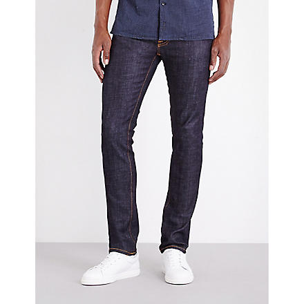 NUDIE JEANS Thin Finn slim-fit tapered jeans (Org+dry+sulpha