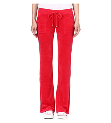 JUICY COUTURE Velour jogging bottoms (Poppy