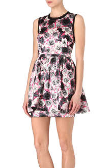 JUICY COUTURE Rose-printed satin dress