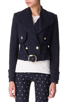 JUICY COUTURE Three-in-one Marine ponte jacket