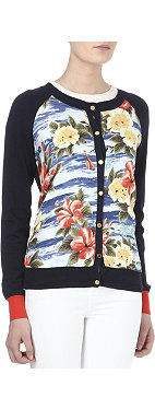 JUICY COUTURE Floral knitted cardigan