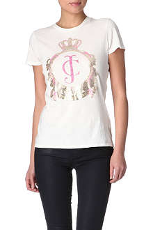 JUICY COUTURE Embellished crest t-shirt