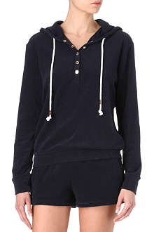 JUICY COUTURE Henley towelling hoody