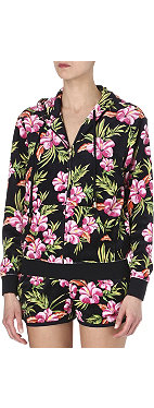JUICY COUTURE Relaxed floral-print hoody