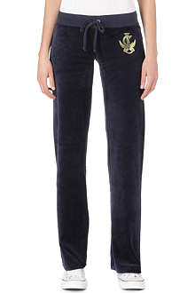 JUICY COUTURE Bohemian velour jogging bottoms