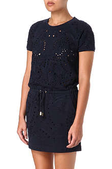 JUICY COUTURE Embroidered drawstring dress