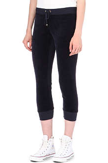 JUICY COUTURE Velour capri trousers