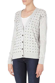 JUICY COUTURE Crystal-embellished cardigan