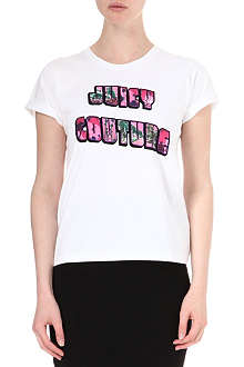 JUICY COUTURE Postcard t-shirt