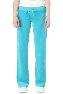 JUICY COUTURE Laurel velour jogging bottoms