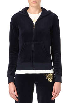 JUICY COUTURE Logo Seal velour hoody