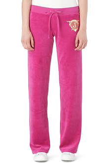 JUICY COUTURE Logo Seal velour jogging bottoms