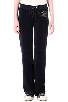 JUICY COUTURE Ornate velour jogging bottoms