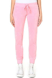 JUICY COUTURE Slim velour jogging bottoms