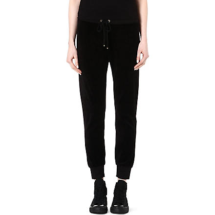 JUICY COUTURE Relaxed velour jogging bottoms (Black