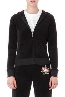 JUICY COUTURE Rose Script velour hoody