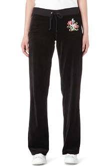 JUICY COUTURE Rose Script velour jogging bottoms