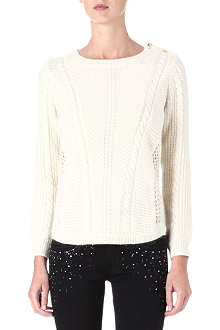 JUICY COUTURE Cable knit jumper