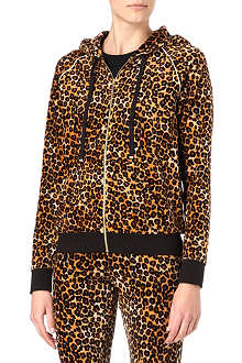 JUICY COUTURE Leopard-print velour hoody