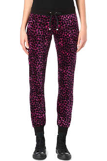 JUICY COUTURE Leopard-print slim velour jogging bottoms