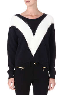 JUICY COUTURE Intarsia knitted jumper