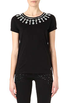 JUICY COUTURE Embellished jersey t-shirt