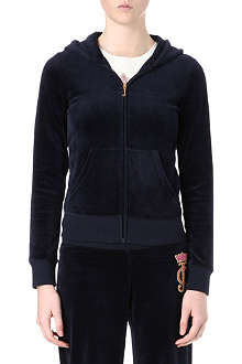 JUICY COUTURE Crown Cameo velour hoody