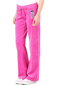 JUICY COUTURE Crown Cameo velour trousers