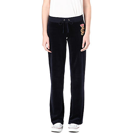 JUICY COUTURE Crown cameo velour jogging bottoms (Regal
