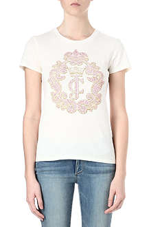 JUICY COUTURE Crown cameo cotton t-shirt