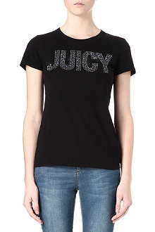 JUICY COUTURE Jewelled cotton t-shirt