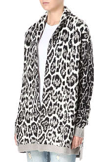 JUICY COUTURE Jacquard animal-print cardigan