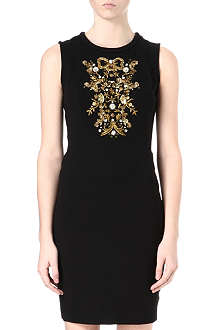 JUICY COUTURE Embellished ponte dress