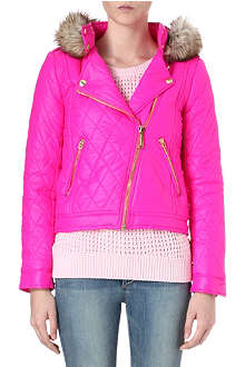 JUICY COUTURE Diamond quilted jacket
